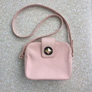 Kate Spade Light Pink Leather Crossbody Bag